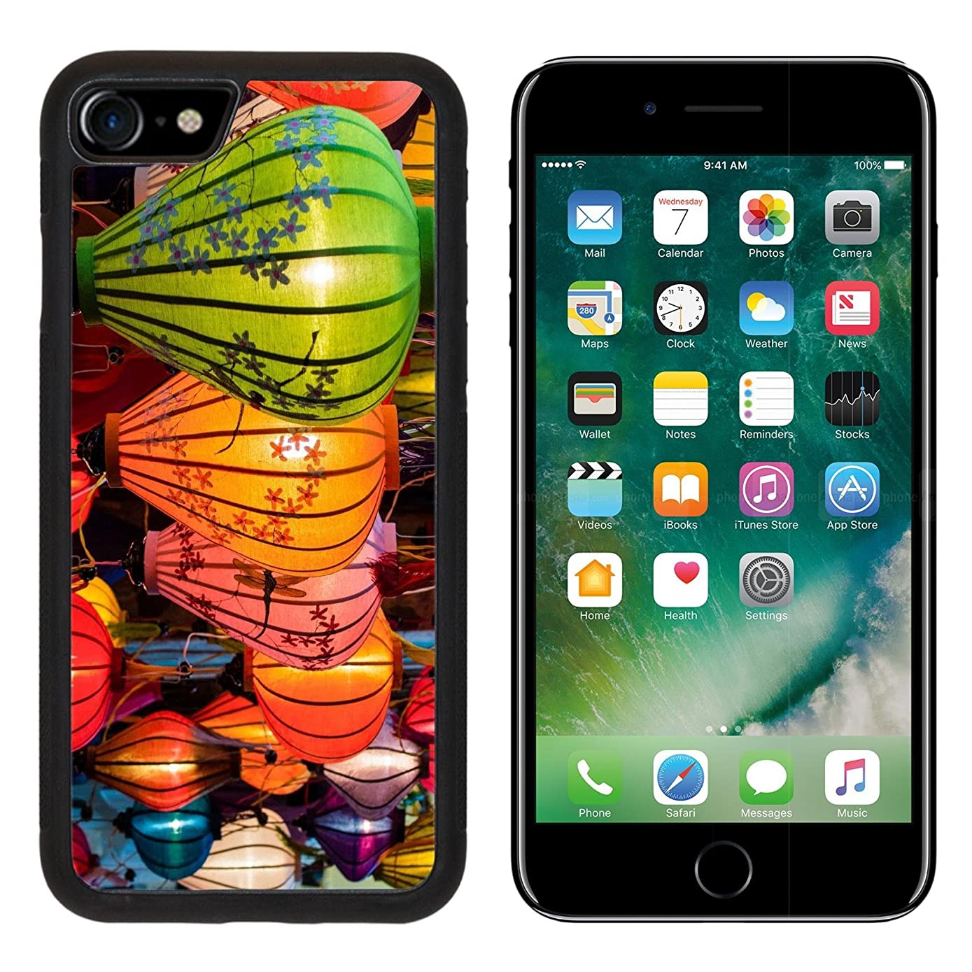 MSD iPhone 7 Case and iPhone 8 Case Protective Silicone Bumper Shockproof Anti-Scratch Resistant Hard Cover IMAGE ID: 31089698 Traditional lamps in Old Town Hoi An Central Vietnam