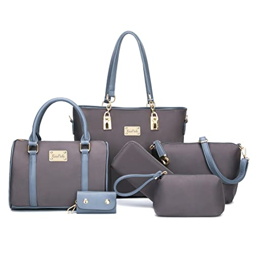 24252654fe0 Women Shoulder Bag Tote Bag for Work Handbag and Purse 6 Piece Set Bag
