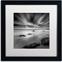 Dusk Artwork Mark Scheffer in White Matte and Black Frame, 16 by 16-Inch