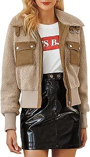 BerryGo Women's Fashion Faux Fur Jacket Turn Down Collar Outwear Coats