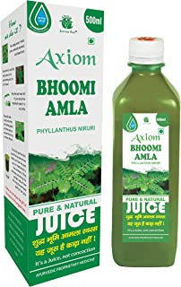 Axiom Bhoomi Amla 500 ml   Healthy Liver   Helps In Digestion   Boost Immunity   100% Natural WHO-GLP,GMP, Certified Produ...
