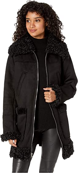 3/4 Faux Shearling Coat