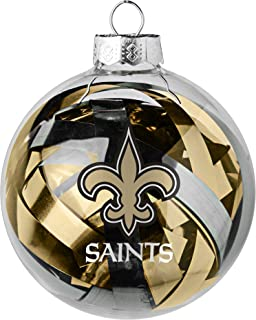 NFL Large Tinsel Ball Ornament
