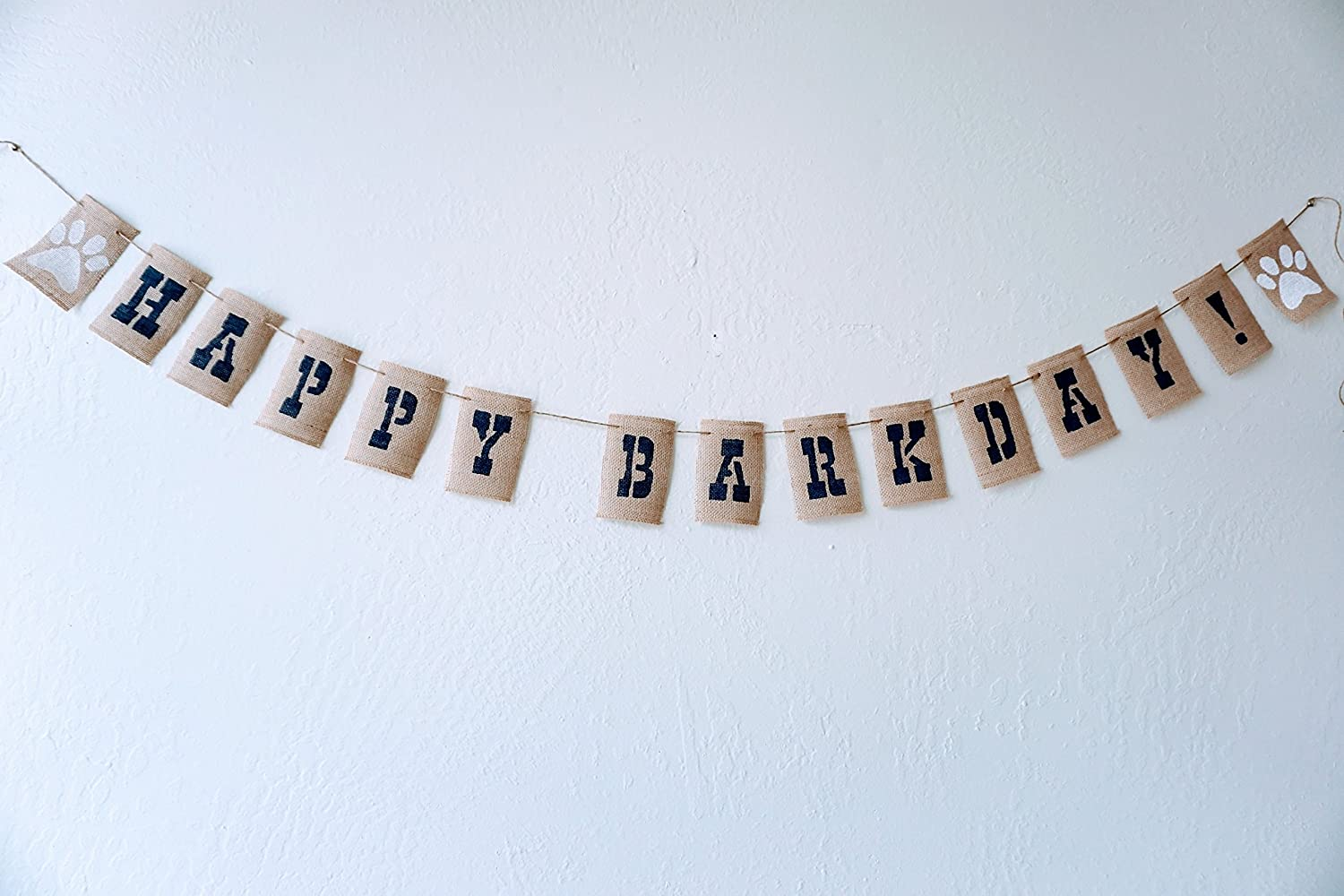 OFFicial store HAPPY BARKDAY Burlap Banner Limited time sale