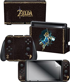 Controller Gear Nintendo Switch Skin & Screen Protector Set, Officially Licensed by Nintendo - The Legend of Zelda Breath ...