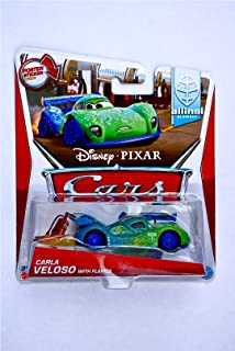 Disney / Pixar CARS Movie 1:55 Die Cast Car MAINLINE Carla Veloso with Flames [Allinol Blowout 1/9]