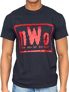 NWO New World Order Red Ink Adult Black T-Shirt