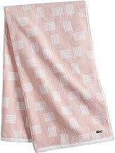 "Lacoste Raster 100% Cotton Towel, 30""W x 54""L Bath, Blossom Pink"