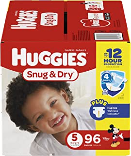 HUGGIES Snug & Dry Diapers, Size 5, 96 Count (Packaging May Vary)