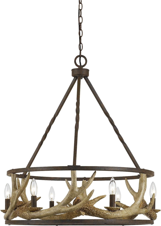 6 Bulb Metal Frame Chandelier Design with Antler Resin Store Spasm price