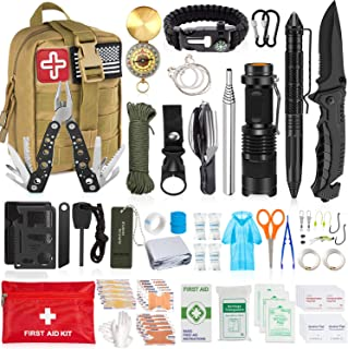 AOKIWO 126Pcs Emergency Survival Kit Professional...