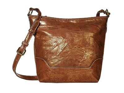 Frye Melissa Metallic Small Hobo (Bronze) Handbags