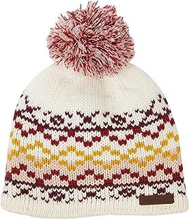 قبعة Fairisle للنساء من Timberland مع بوم بوم كريمي/وردي