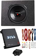 Kenwood 12 Inch 2000W 4 Ohm Subwoofer + Sealed Sub Box + Amplifier & Wire Kit