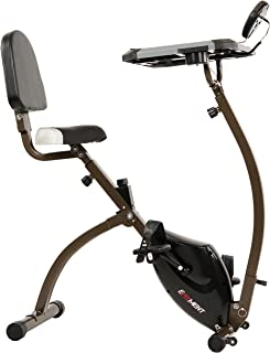 EFITMENT Folding Desk Bike, Semi Recumbent Workstation Exercise Bike for Laptop