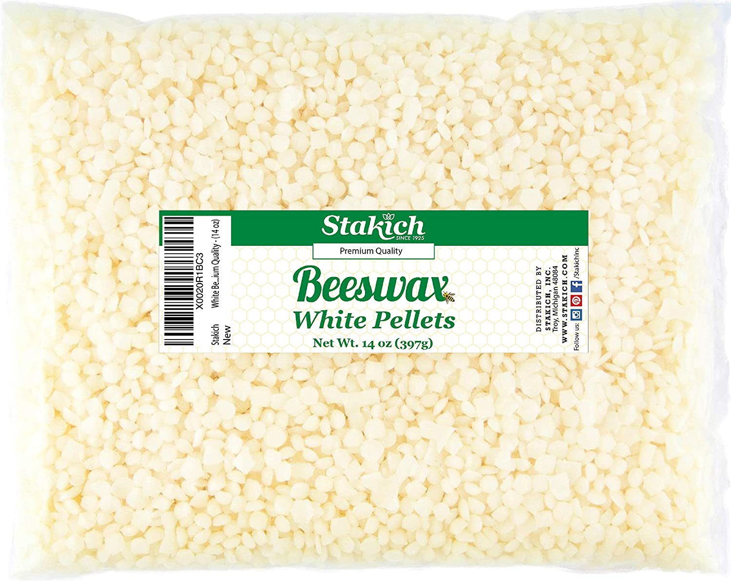 Stakich White Beeswax Pellets - Gorgeous Natural Po Grade 10.5 Cosmetic Fort Worth Mall