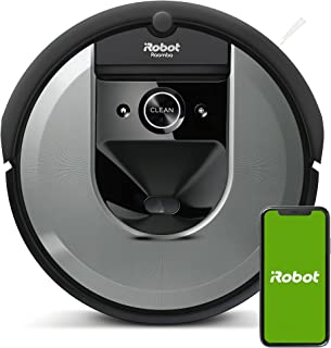 iRobot i7156 Roomba i7 Robot Vacuum Cleaner, Learns, maps, and adapts to Your Home, Ideal for Pets, with Rubber Brushes, P...