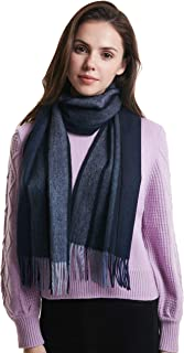 100% Cashmere Winter Plaid Soft and Cozy Scarf for Men and Women
