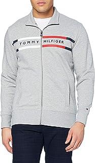 Tommy Hilfiger Logo Zip Through Sweater Homme
