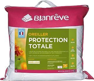 Blanrêve - Oreiller Protection Totale - anti acariens et antibactérienne - 60x60 cm