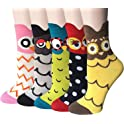 5 Pairs Migou Womens Cute Funny Casual Cotton Crew Animal Socks