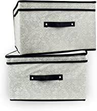 DII Breathable Non-Woven Soft Storage Closet Organizer Bins with Easy Flip Lids for Photos, Documents, Craft or Sewing Sup...