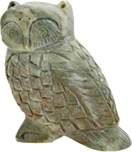 ShalinIndia StonewareHandcrafted India AgraOwl for Home Decor, 4-inches (Beige)