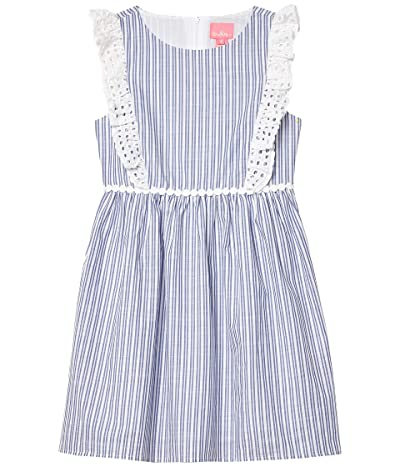 Lilly Pulitzer Kids Madelina Dress (Toddler/Little Kids/Big Kids) (Blue Thistle Blue Thistle Cotton Dobby Yarn-Dye Stripe) Girl