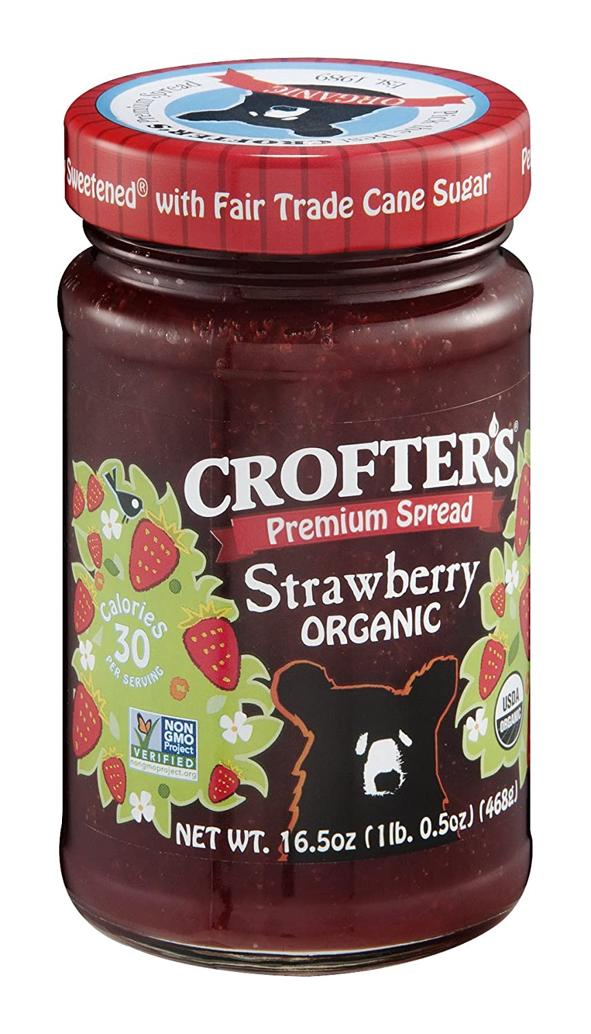 Crofters Organic Strawberry Conserve 16.5 6 per Max 48% OFF Ounce OFFer -- case.