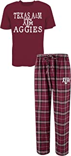 Men's NCAA Duo Flannel Pajamas and T-Shirt Sleep Set