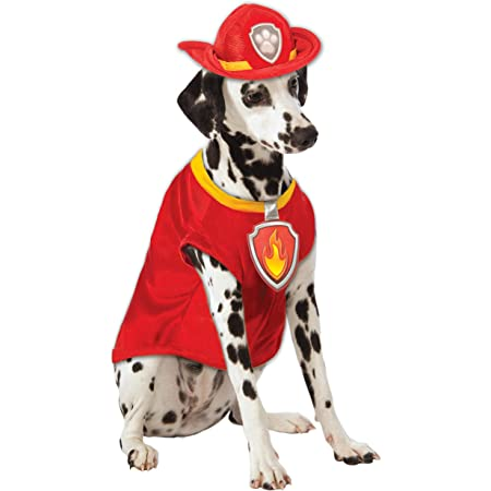 Raincoat and Helmet Hat for Dog Sizes XS Thru XL Puppe Love Cute Doggie Fireman Fire Chief Costume with Dog House Charm Red Yellow
