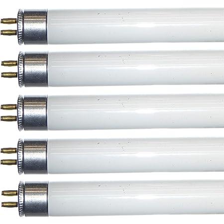"""Lot de 5 Tubes Fluorescent T5 525mm 21"""" Blanc Froid 4000k 13W"""
