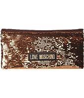 LOVE Moschino - Glitter Clutch w/ Strap