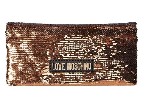 LOVE Moschino Glitter Clutch w/ Strap