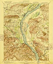 YellowMaps Shawneetown IL topo map, 1:62500 Scale, 15 X 15 Minute, Historical, 1916, Updated 1916, 19.6 x 16.4 in