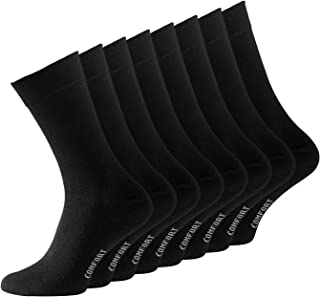 pack de 8 Calcetines opacas para hombre, Negro
