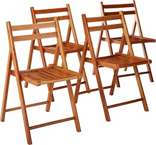 Winsome Robin 4-PC Folding Set Teak Chair