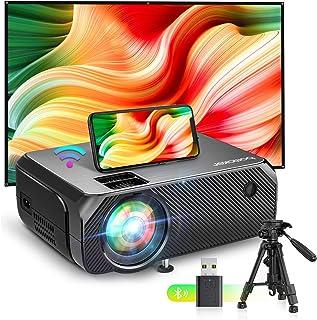 Bomaker Proyector WiFi, Proyectores Soporte Full HD 6000 LM Portátil, Nativa 720P Video Proyector Inalámbrico Mini Cine en...