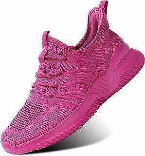 Womens Trainers Ladies Walking Running Shoes Slip on Lightweight Comfortable Tennis Athletic Sport Sneakers