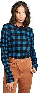 Scotch & Soda Maison Scotch Women's High Neck Check Pattern Sweater