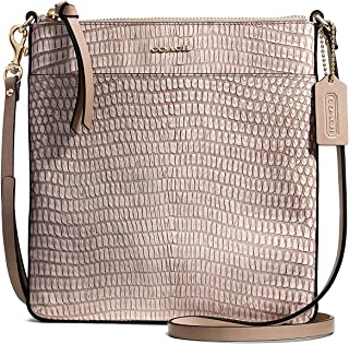 Coach Madison Bonded Leather North South Swingpack Crossbody Fawn Lizard  50829 a5ed330ca1e38