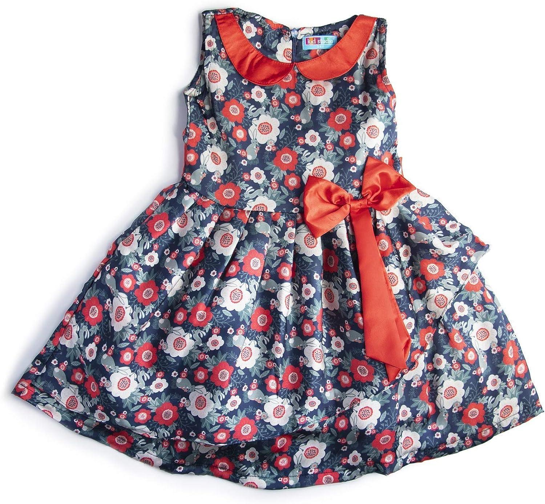 kidstudio Girls Dress for Kids Printed Partywear Casual Frock, 1-7 Years