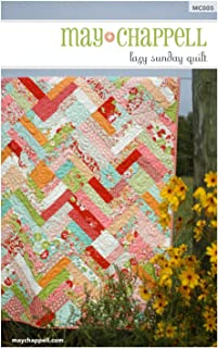 Lazy Sunday Quilt, Quilt Pattern, Fat Quarter and Layer Cake Friendly, 5 Finished Size Options