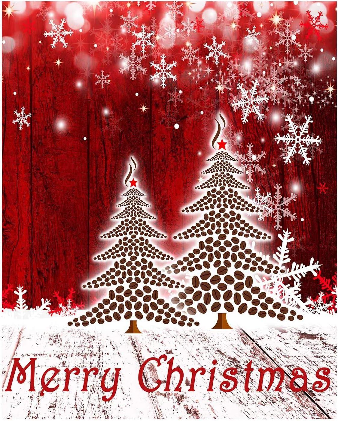 Merry Christmas Tree Snowflake Garden Flag Si Double Fashionable Snow Popular Winter