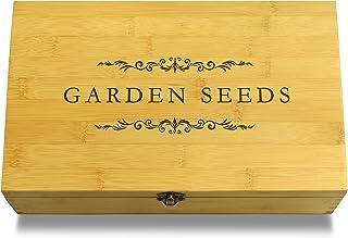 Cookbook People Garden Seeds Gardening Multikeep Box - Decorative Bamboo Wood Adjustable Organizer