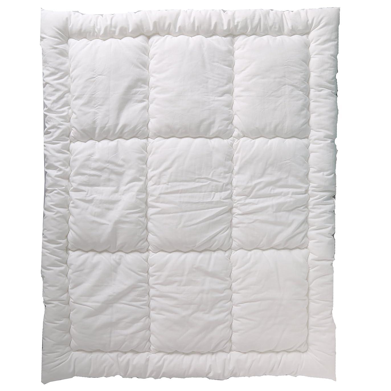 日没チョコレート最近6歳までの寝具図鑑 こどものふとん 丸洗い掛け布団 ベビーミニサイズ 75×95cm 白