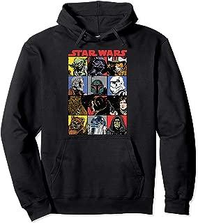 Star Wars Comic Strip Cartoon Group Pullover Hoodie