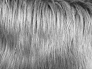 Faux Fur Luxury Shag Grey 60 Inch Wide Fabric By the Yard (F.E.®)