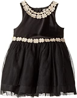 Nanette Lepore Kids - Matte Satin with Sequin Lurex Trim and Tulle Bottom (Infant)
