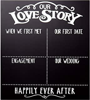 Best our love story chalkboard Reviews